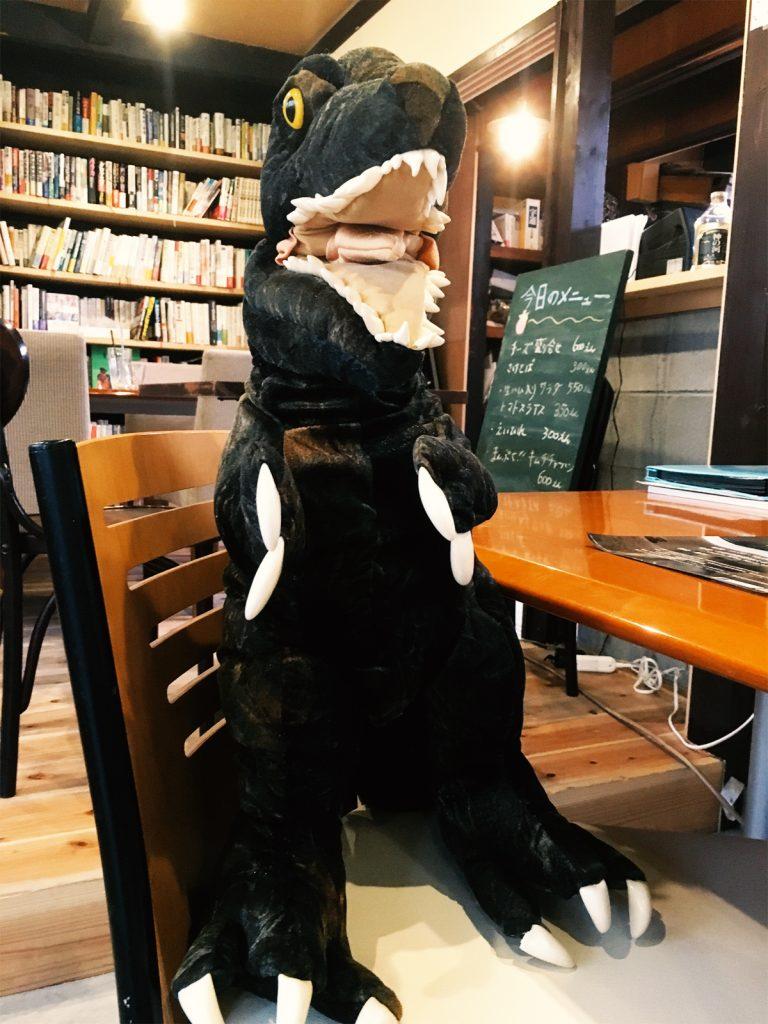 ティラノサウルス君。筆者もその人気にあやかりたい