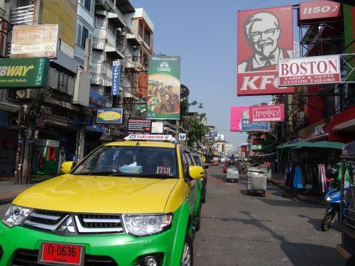 バンコクのカオサン通り(2015年)