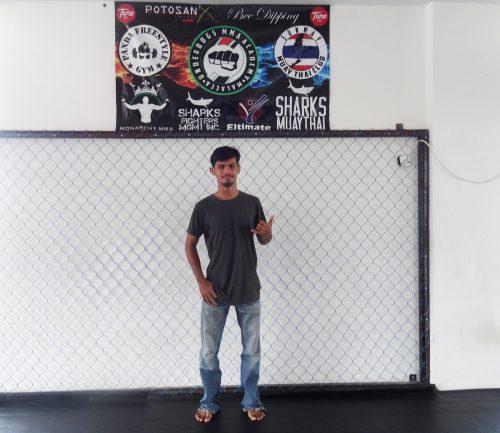 クラブ代表のFouzein先生は元ムエタイの選手。現在は柔術、総合格闘技、ボクシング、シラット(マレーシアの伝統打撃技)など幅広く取り組む。柔術のアジア選手権で銀メダルを取ったことも。