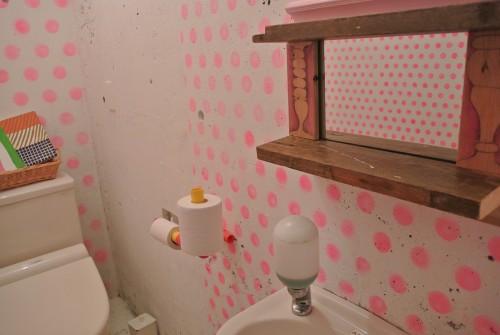 開けてビックリのトイレ。