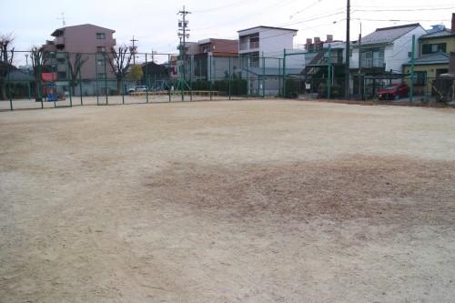 練習場所となった公園